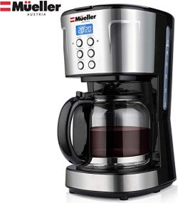 Mueller UltraBrew Coffee Maker, Programmable 12-Cup Machine, Multiple Brew Strength, Keep Warm