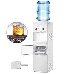 VBENLEM 2 in 1Water Cooler Dispenser with Built in Ice Maker Machine Hot and Cold Top Loading 3  ...