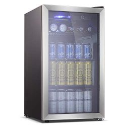 Antarctic Star Beverage Refrigerator Cooler – 100 Can Mini Fridge Glass Door for Soda Beer ...
