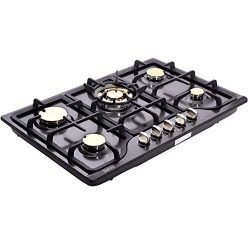 Deli-kit DK257B-C01 30″ LPG/NG Gas Cooktop gas hob stovetop 5 burners Dual Fuel 5 Sealed B ...