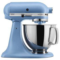 KitchenAid KSM150PSVB Artisan Stand Mixers, 5 quart, Matte Velvet Blue (Renewed)