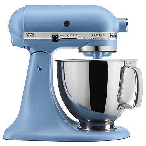 KitchenAid KSM150PSVB Artisan Stand Mixers, 5 quart, Matte Velvet Blue (Renewed)