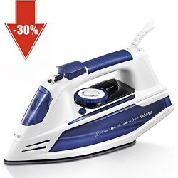 Yabano Steam Iron, Professional Clothes Iron with Nonstick Soleplate, Anti-Drip, 3 Way Auto-Shut ...