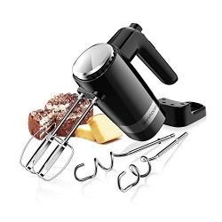 SHARDOR Hand Mixer Powerful 300W Ultra Power Handheld Mixer Electric Hand Mixers with Turbo Heav ...