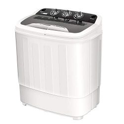 VIVOHOME Electric Portable 2 in 1 Twin Tub Mini Laundry Washer and Spin Dryer Combo Washing Mach ...