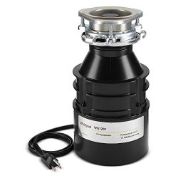 Whirlpool WG1202PH replaces GC2000PE, 1/2 hp continuous feed garbage disposal with power cord