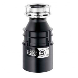 Garbage Disposal, Badger 5, 1/2 HP