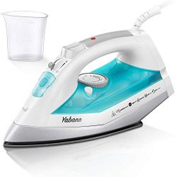 Yabano Steam Iron, Professional Iron for Clothes with Non-Stick Soleplate, Anti-Drip, Auto-Shuto ...