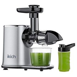 IKICH Slow Juicer 2-Speed Slow Masticating Juicer Easy to Clean, High juice yield, Reverse Funct ...