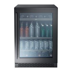 Zephyr Presrv Single Zone Beverage Cooler with Glass Door. 24 Inch 5.6 cu. ft. Refrigerator for  ...