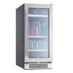 Zephyr Presrv Single Zone Beverage Cooler with Glass Door. 15 Inch 3.22 Cubic Feet Refrigerator  ...