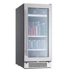 Zephyr Presrv Single Zone Beverage Cooler with Glass Door. 15 Inch 3.22 Cubic Feet Refrigerator  ...