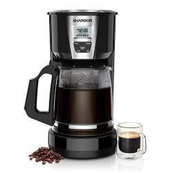 SHARDOR Drip Coffee Maker, 15 Cup Programmable Brew Coffee Machine, Automatic Start and Shut Off ...