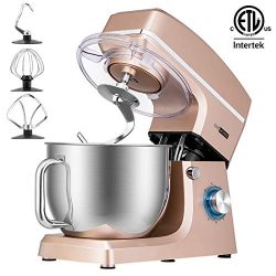 VIVOHOME 7.5-Qt. Stand Mixer, 660W 6-Speed Tilt-Head Kitchen Electric Food Mixer with Beater, Do ...