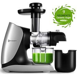 MEOMY Masticating Juicer Machines, Slow Cold Press Juicer with Ceramic Auger, 2-Modes High Yield ...