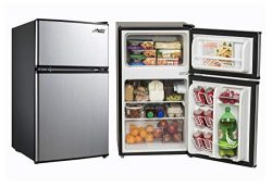 Small Refrigerator with Freezer for Office or Dorm Apartment. Compact Undercounter Mini Fridge C ...
