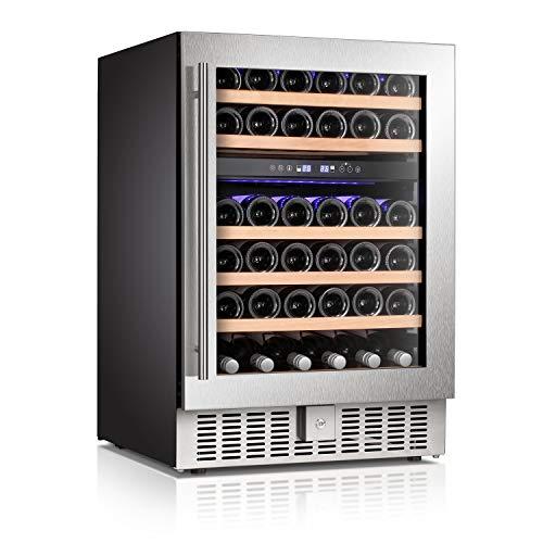 Antarctic Star Wine Cooler Beverage Refrigerator Fridge 46 Bottles 24″ Dual Zone Built-in  ...