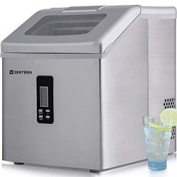 Sentern Portable Electric Clear Ice Maker Machine Stainless Steel Countertop Ice Making Machine, ...