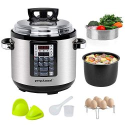 prepAmeal 6QT 8-IN-1 ( 3 Speeds Options ) Pressure Cooker with Accessories Set, Multi-Use Progra ...