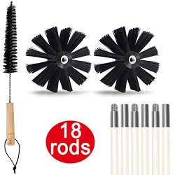 Dryer Vent Cleaner kit, 24 Feet Dryer Duct Cleaning Kit, Lint Remover, Extends up to 24 Feet, Tw ...
