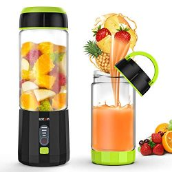 Smoothie Blender, LOZAYI Portable Personal Blender Travel USB Rechargeable Juicer Cup for Shakes ...