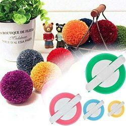 4 Pack Pompom Maker, 4Clovers 4 Sizes Pom Pom Maker Set for Fluff Ball Waver Needle Craft DIY Wo ...
