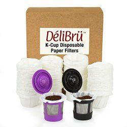 Paper Filters for Reusable K Cups Fits All Brands – Disposable K Cup Paper Filter (100/Box ...