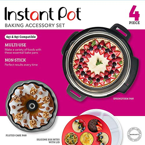 Instant Pot 5257142 Official Bakeware Set, 4-piece, Assorted