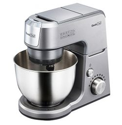 Geek Chef Mini 4-in-1 Stand Mixer: Multi-function, 2.6 Quart Stainless Steel Bowl, 7 Speeds with ...
