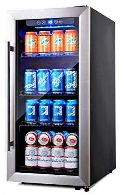 Phiestina PH-CBR100SP 96 Can Compressor Beverage Cooler Air-Cooled Refrigerator Stainless Steel  ...