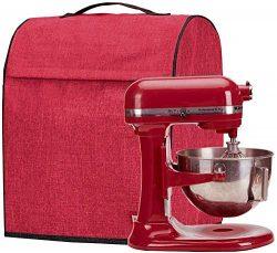 HOMEST Stand Mixer Dust Cover, Storage Bag with Pockets Compatible with KitchenAid Tilt Head &am ...