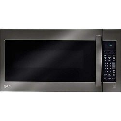 LG 2-cu ft Over-the-Range Microwave with Sensor Cooking (Fingerprint-Resistant Black Stainless S ...