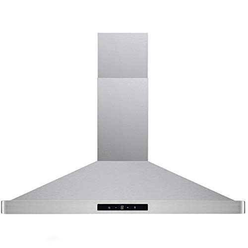 DKB Range Hood DKB-168M-30T 30″ Inch Wall Mount Stainless Steel Kitchen Exhaust Vent With  ...