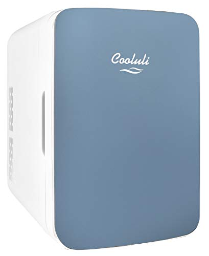 Cooluli Infinity Blue 10 Liter Compact Portable Cooler Warmer Mini Fridge for Bedroom, Office, D ...
