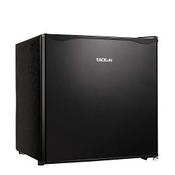TACKLIFE Compact Refrigerator Super Quiet, Mini Fridge with Freezer 50L, 1.6 Cu.Ft(Holds 40 cans ...