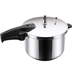 KRAMPAN Stainless Steel Pressure Cooker 6-Quart Pressure Canner Dishwasher Safe Fast Cooker Home ...
