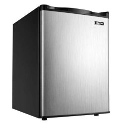 Euhomy Upright freezer, Energy Star 2.1 Cubic Feet,Compact Single Door mini freezer with Reversi ...