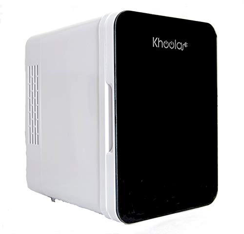 KHOOLA Mini Fridge Thermoelectric Cooler and Warmer AC/DC Powered System – Compact and Por ...