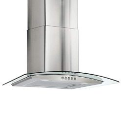 RV Curved Glass Range Hood | Vent Hood RV Kitchen | 24″ Stainless Steel | Curved Tempered  ...