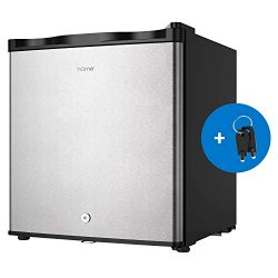 hOmelabs Upright Freezer – 1.1 Cubic Feet Reversible Single Door Compact Vertical Freezer  ...