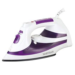 MARTISAN Steam Iron, 1200W Non-Stick Soleplate Iron,Variable Temperature and Steam Control, Self ...