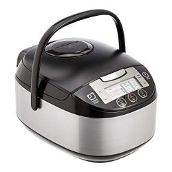 AmazonBasics Multi-Functional Rice Cooker – 5.5-Cup Uncooked (11-Cup Cooked), Black
