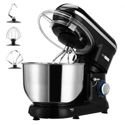 VIVOHOME Stand Mixer, 650W 6-Speed 6-Qt. Tilt-Head Kitchen Electric Food Mixer with Beater, Doug ...