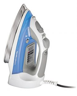 Hamilton Beach Steam Iron & Vertical Steamer with Stainless Steel Soleplate, 1700 Watts, Ele ...