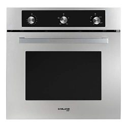 GASLAND Chef 24″ Built-in 6 Cooking Function Single Wall Gas Oven, Mechanical Knob Control ...