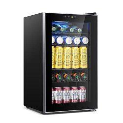 Kismile 85 Can Beverage Refrigerator Cooler,2.9 Cu.ft Mini Fridge with LCD Temperature Control f ...
