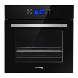 GASLAND Chef 24″ 2.3Cu.f Multi-functional Built-in Tempered Glass Electric Single Wall Ove ...