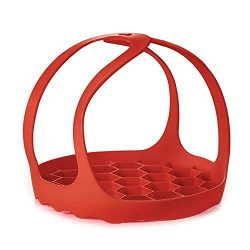 Millmus Pressure Cooker Sling Silicone Bakeware Sling for Instant Pot 6/8Qt (Red)
