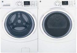 "GE Front Load Steam GFW450SSMWW 27″"" Washer with GFD45GSSMWW 27″"" Gas Dr ..."