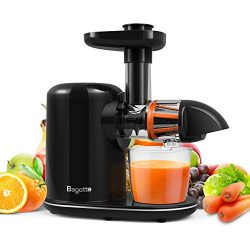 Juicer Machines, Bagotte Slow Masticating Juicer with Reverse Function, Cold Press Juicer Extrac ...